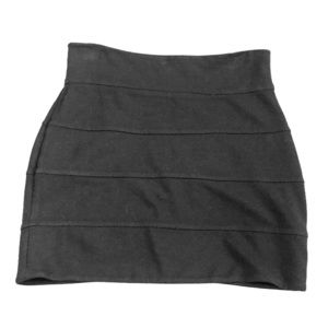 Talula Black Fitted Bandage Mini Skirt
